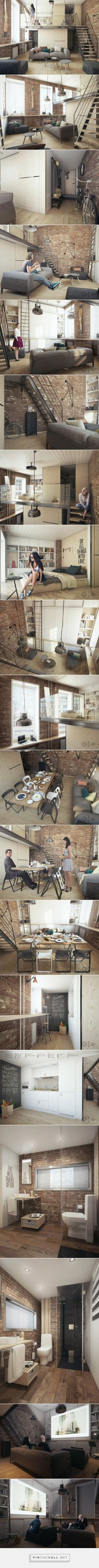 One bedroom apartment for a young couple... - a grouped images picture - Pin…