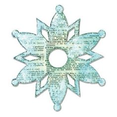 """Sizzix Bigz 656298 Snowflake 2 designed by Rachael Bright!  Approximate assembled die cut size: 5 x 4 3/8"""""""
