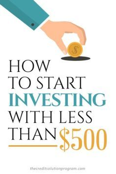 One myth about investing is that you need a lot of money to get started. In fact, you can start with less than $500! Here's how.