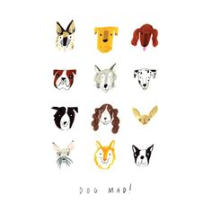 Draw Dogs Nina Cosford Illustration - Dog Mad - Fun and beautifully printed greetings cards for any occassion. Made with ILLUK. Newborn Elephant, Dog Illustration, Dog Art, Animal Drawings, Dog Training, Baby Animals, New Baby Products, Dog Hacks, Joules