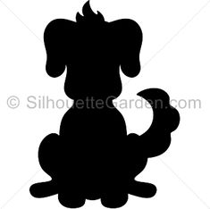 Dog silhouette clip art. Download free versions of the image in EPS, JPG, PDF, PNG, and SVG formats at http://silhouettegarden.com/download/dog-silhouette/