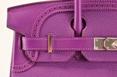 Hermes - Ghillies Birkin bag. Stitching & pattern detail.