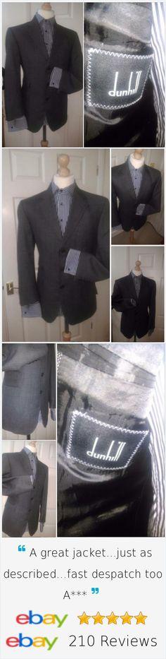 £59.99 Mens DUNHILL Grey Suit Jacket 42S / EU 52 #mystyle #styleme #trendymen #fashionme #ilovefashion #stylishmen #drendyfashion #suitjacket #coats #famousfashion #designerclothes