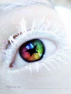 Eye art - rainbow and frozen white Eyes Without A Face, Look Into My Eyes, Pretty Eyes, Cool Eyes, Rainbow Eyes, Eye Pictures, Most Beautiful Eyes, Crazy Eyes, Make Up Art