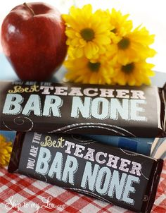 These Teacher Appreciation Candy Bar Covers are the perfect way to tell your teacher that they are the best teacher bar none! It is a super easy way to celebrate Teacher Appreciation Day! If you are looking for more ideas to celebrate teachers here are 50 cute sayings for teacher appreciation! Get your Teacher Appreciation Candy Bar Covers here: Candy Bar Wrapper for 4.25 ounce bars Candy Bar Wrapper for 1.55 ounce bars Simply download...