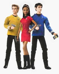 Star Trek Barbies for Mattel.  More utter weirdness.  Designed by Bill Greening. © 2009 Paramount Pictures Corporation. © 2009 CBS Studios Inc. STAR TREK and related marks are trademarks of CBS Studios Inc. All rights reserved.
