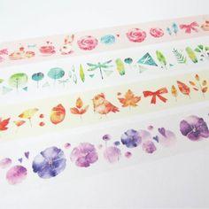 『花草少女』紙膠帶 4入