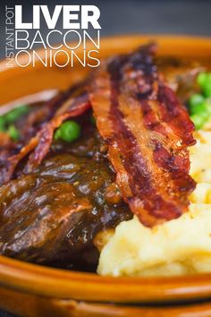 Offal may have fallen out of favour with many but my Liver and Onions recipe is a glorious nod back at the wonder of simple frugal cooking and of course, comes bundled with bacon and mash. Pork Liver Recipe, Liver Recipes, Beef Liver, Cooked Pork Recipes, Onion Recipes, Lamb Recipes, Liver And Bacon, Liver And Onions, Fun Easy Recipes