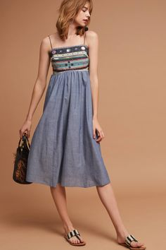 Shop the Embellished Chambray Midi Dress and more Anthropologie at Anthropologie today. Read customer reviews, discover product details and more.