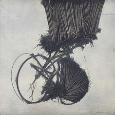 Emilio Scanavino (Italian, 1922-1986), Il pendolo, 1980. Oil on canvas laid on panel, 80 x 80 cm.