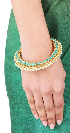 MANISH ARORA FOR AMRAPALI  Candy Bijou bangle with pearl and turq