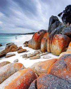 Who wouldn't want to spend their weekend here! Stunning capture of the beautiful red coloured rocks at the Bay of Fires on Tasmania's East Coast. Image sent in by Simon Beedle Photography. Tasmania Travel, Fire Rocks, Visit Argentina, Australia Travel, Great Photos, East Coast, Travel Destinations, Travel Photography, Adventure
