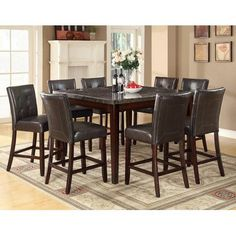 Alcott Hill Cincinnati Counter Height Dining Table Finish: Black