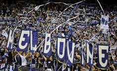 Melbourne Victory fans out in force. Photo: Sebastian Costanzo