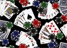 Games of Chance Cards Black by Foust Textiles Inc
