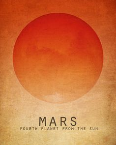 16x20 Mars Astronomy Art Print Solar System Space by meganlee