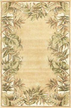 RugStudio presents Kas Ruby Natural Fauna Beige-Ivory 8996 Hand-Tufted, Good Quality Area Rug