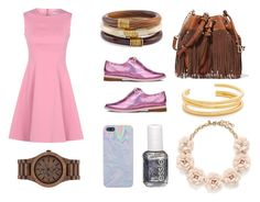 """""""Trendy Cookie: holographic time V"""" by andrea-hu on Polyvore featuring moda, Irregular Choice, Essie, Chico's, Diane Von Furstenberg, J.Crew, Madewell, WeWood, WOOD y essie"""