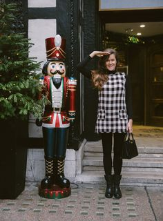Sale Shopping in London - The Londoner English Christmas, Check Dress, Black Turtleneck, Fat Women, Hipster, Punk, London, Photo And Video, My Style