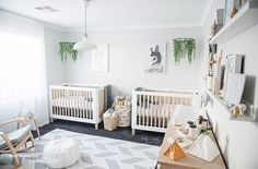 """302 Likes, 3 Comments - INCY INTERIORS STORE (@theincystore) on Instagram: """"Admiring this gorgeous twin nursery featuring our Teeny cots! Created by the clever @nashstyling …"""""""