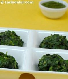 These spinach and fenugreek dumplings make delicious tea-time treats.