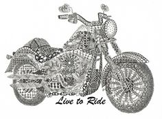 Tangled Fatboy Harley Art Print