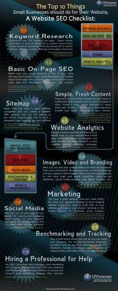 De 10 dingen die een klein bedrijfje moet doen om een goede website te hebben. #SEO #Website #Tips
