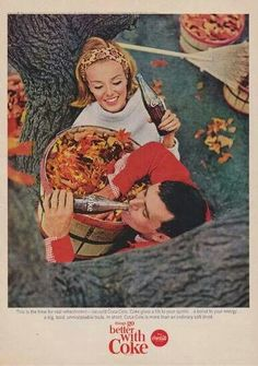 """vintage everyday: """"Things go better with Coke"""" - Sixties Coca-Cola Commercials Vintage Coke, Vintage Fall, Vintage Holiday, Vintage Halloween, Retro Vintage, Halloween Images, Vintage Vibes, Coke Ad, Coca Cola Ad"""