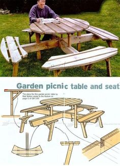 Circular Picnic Table Plans - Outdoor Furniture Plans & Projects | WoodArchivist.com