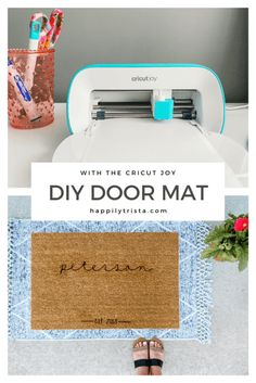 AD: The Cricut Joy is a high-powered cutting machine that's easy to use and makes DIY projects fun! Here I share how to make a DIY doormat with the Cricut Joy. #cricutathome #cricutcreated
