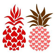 Pineapple Heart SVG Cuttable Design