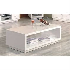 Deco Coffee Table In White