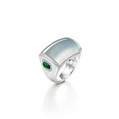 ICY JADEITE, JADEITE AND DIAMOND RING