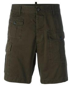 DSQUARED2 Dsquared2 Men'S  Green Cotton Shorts'. #dsquared2 #cloth #shorts