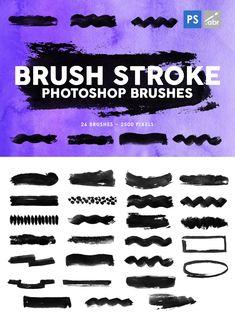 26 Brush Stroke Photoshop Brushes Brush Stroke Photoshop, Photoshop Shapes, Photoshop Brushes, Brush Strokes, Graphic Design, Template, Tools, Painting, Style