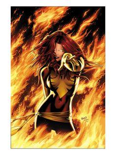 X-Men: Phoenix - Endsong #1 Cover: Phoenix, Grey and Jean Premium Poster