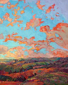 Abstract Landscape Painting - Clouds Over Paso II by Erin Hanson