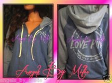 LAST ONE! BAGGY ENOUGHT TO SIZE DOWN! WARDROBE MUST-HAVE! #FREESHIPPING 99 Cent #VSPINK #Auction ends #Sunday #ebay  NEW Victoria's Secret PINK XS BLUE Two Tone Perfect Zip Baggy Hoodie Sweat shirt