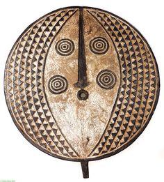 Bwa Mask Round  Large Burkina Faso African