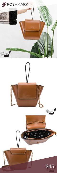 2f1070b3163b Melie Bianco: Adele Crossbody in Saddle Luxury Vegan Leather PETA Approved Melie  Bianco Lining Top