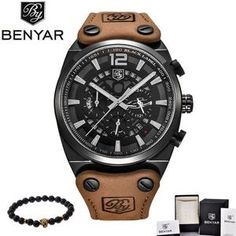1424be8cba73 WEEKLY DEAL - BENYAR Chronograph Military Watch
