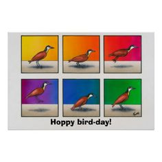 Search for customizable Happy posters & photo prints from Zazzle. Birthday Puns, Happy Birthday Greetings, Corner Designs, Create Your Own, Poster Prints, Jokes, Bird, Funny, Husky Jokes