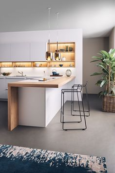 Excellent modern kitchen room are available on our site. Living Room Kitchen, Home Decor Kitchen, Interior Design Kitchen, Home Kitchens, Kitchen Ideas, Kitchen Dining, Dining Room, Modern Kitchen Cabinets, Kitchen Wood