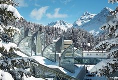 Wellness Center: Berg Oase  (Arosa, Switzerland) - Mario Botta Architetto