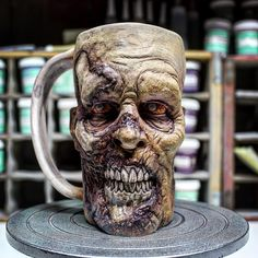 "2,028 Likes, 54 Comments - Turkey Merck (@turkeymerck) on Instagram: ""TWD Walker tribute mug...WIP. Second layer of glaze applied and ready for another firing.…"""