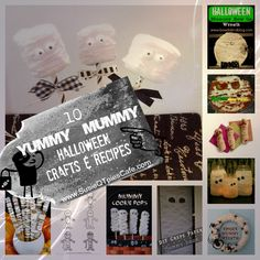 Top 10 Yummy Mummy Halloween Recipes and Halloween Crafts from SusieQTpies Cafe
