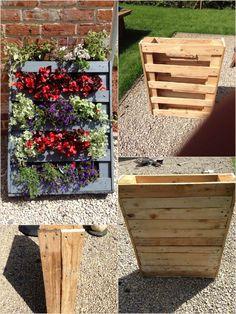 Homemade Vertical Pallet Planter