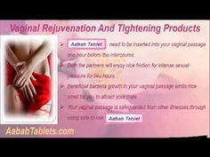 This video describes about buy safe and genuine vaginal rejuvenation and tightening products. You can find more detail about Aabab Tablets at http://www.aababtablets.com