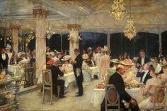 Un soir de grand prix au pavillon d'Armenonville, 1905, by Henri Gervex (French, 1852-1929).