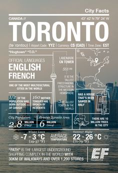 Multicultural marvel: Toronto infographic ‹ GO Blog   EF GO Blog Canadian Facts, Canadian Things, Travel List, Travel Goals, Travel Guides, Moving To Canada, Canada Travel, Toronto Canada, Ontario